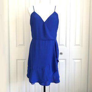✨3 for $30✨HP ❤️ Naked Zebra Blue Faux Wrap Dress